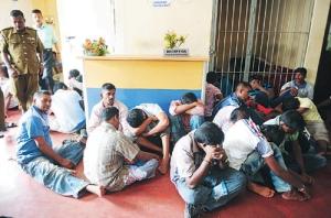 Tamil migrants inn colob mbo