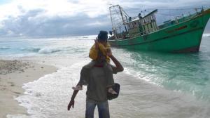 athika gitaanggun on boat aground