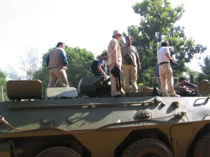 Reporters on armoured car -april 2009- 22