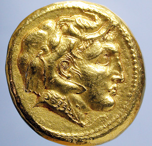Alexander the great in coin