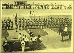 Arrival of Governor - General Sir Henry Monck Mason Moor to inaugarate the First Parliament of Dominion Ceylon.
