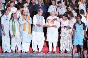 Modi at the Ganges
