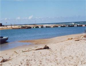 9--pontoon bridge and eeashore