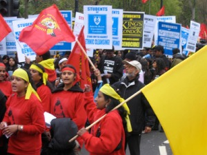 --TAMIL DEMO in LONDON -socialsit worker 33++
