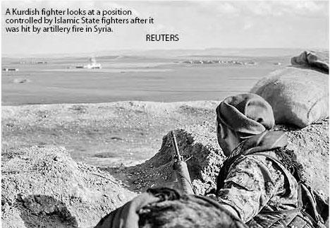 a kurdish figher Reuters
