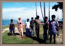 42 With Tiger boys at Kalmunai Point Pooneryn