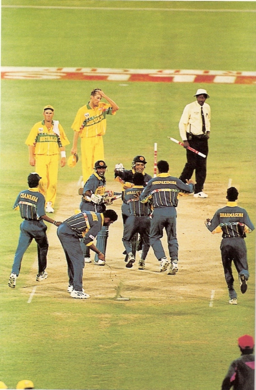 13--Sri Lankans swarm over pitch in triumphantmood