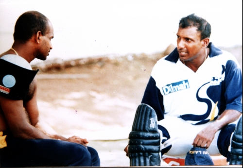 35a-Aravinda & Sanath in earnest conversation