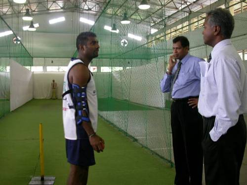 28c-Murali prepares for brace test
