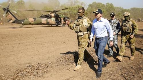 Abbott in NT with Army ops--Brad Hunter