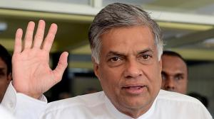 RANIL - Sri Lankan Prime Minister Ranil Wickremesinghe in Colombo on August 13, 2015 --  AFP