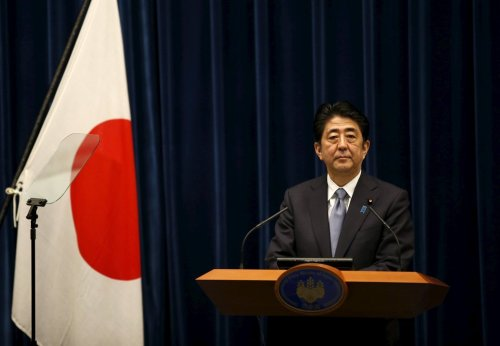 Shinzo Abe of Japan - Credit Toru Hanai...Reuters