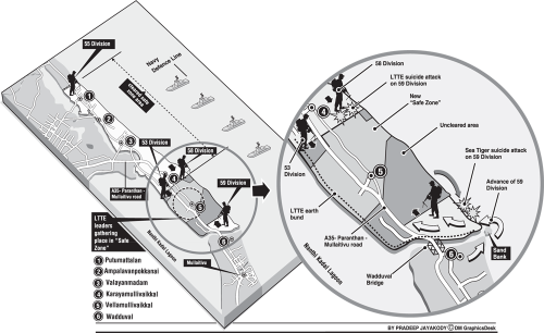 K 125- The final squeeze map of Thamilīlam and its death throes, 15 May 2009