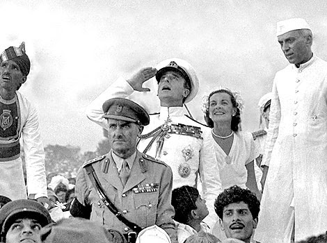 Mountbatten Nehru