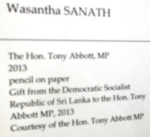 Tony Abbott Mahinda Portrait 2
