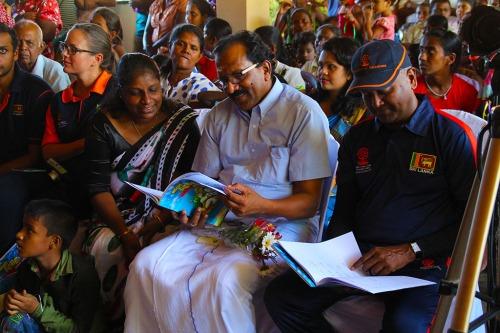 Honourable Minister Gurukalarajah with Kushil Gunasekera and FoG Tamil Teacher Ms. K. Varshavithane