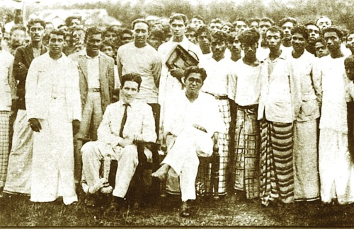 11-MA Bracegirdle with LSSP leaders, Horana