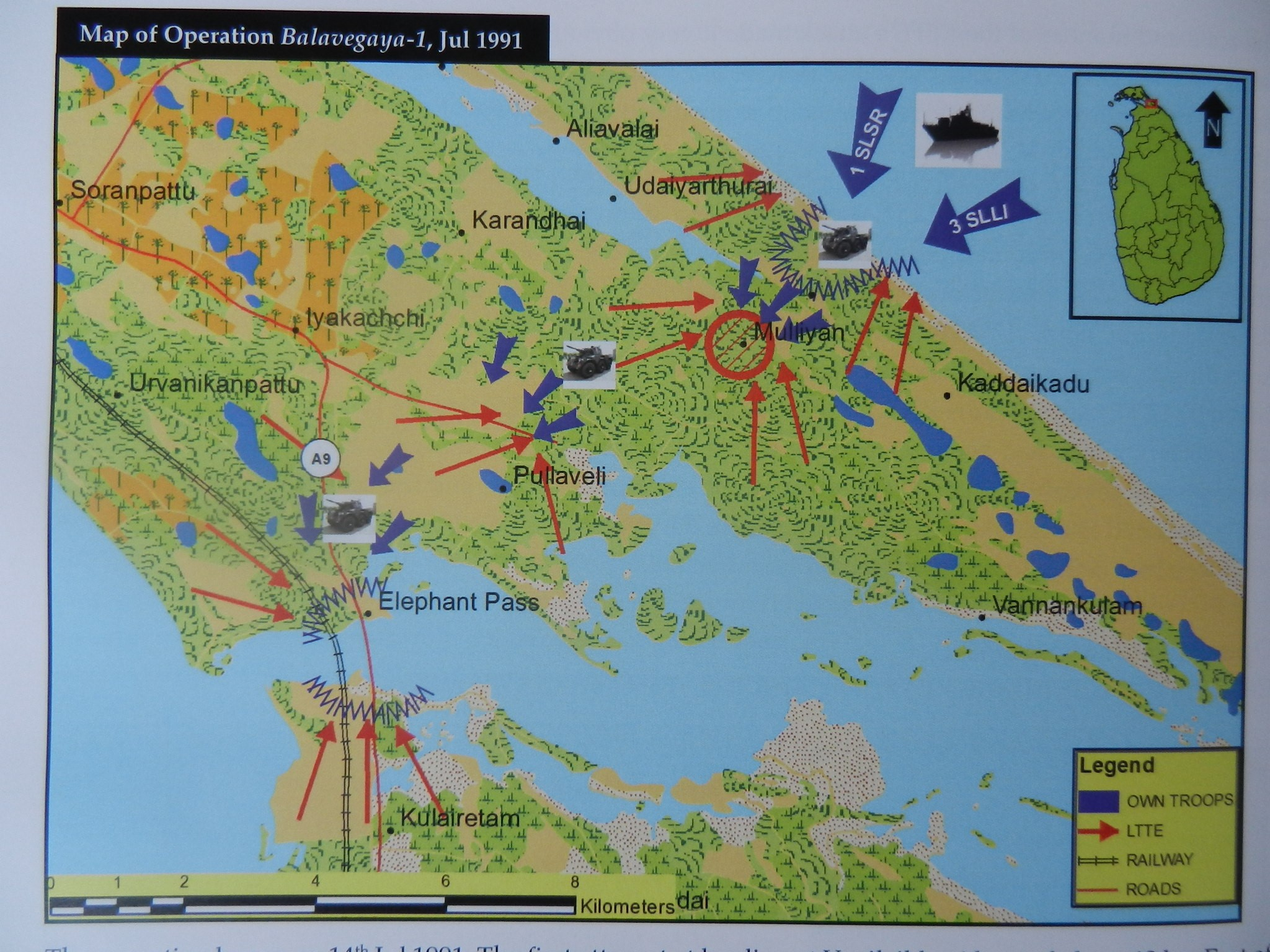 Jagath senaratnes history of the sl armoured corps enters the july 1991 operation map gumiabroncs Image collections