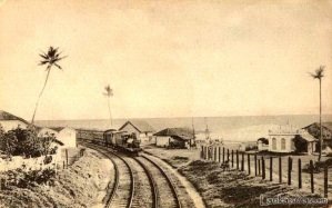 Cn 6=Railway line at Colpetty, Colombo , Ceylon