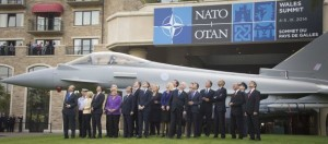 NATO Secretary General Anders Fogh Rasmussen and the Heads of State and Goverment during the Air power flypast
