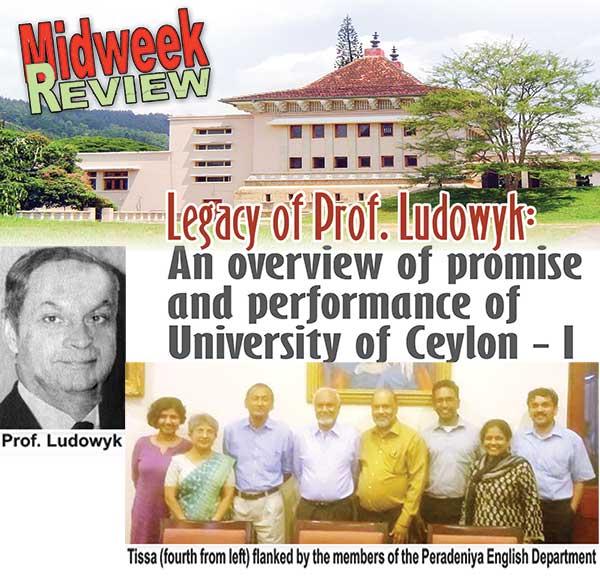 EFC Ludowyk: For Peradeniya and Ceylon …   His Lasting Legacies